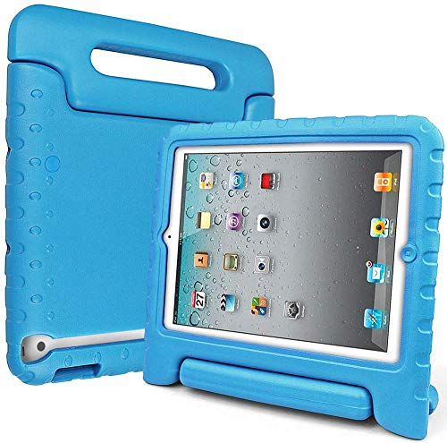 case up ipad 3 protection cases SIMPLEWAY iPad 4th Generation Case, iPad 3 Case, iPad 2 Case for Kids, iPad Case 9.7 Inch, Portable EVA Foam iPad Tablet Cover Shockproof Lightweight Apple iPad 2/3/4 Case - Blue