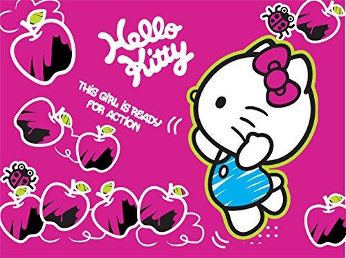 AG Design FTxxl 1474  Hello Kitty, Papier Fototapete Kinderzimmer- 360x255 cm - 4 teile, Papier, multicolor, 0,1 x 360 x 255 cm