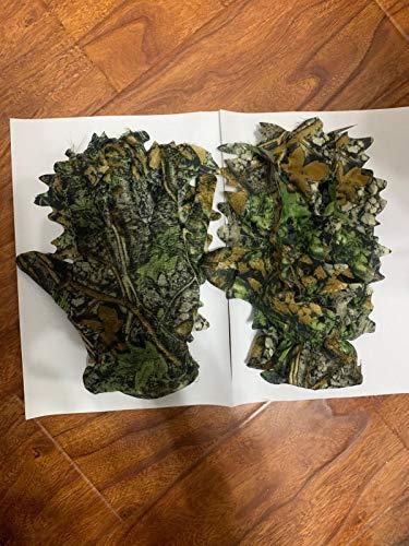 Dreameryoly Handschuhe 3D Camo Handschuhe Outdoor Camouflage Jagdhandschuhe Leaf Camouflage Anzug Woodland Camouflage Handschuhe Geeignet Für Die Jagd Vogelbeobachtung Outdoor Fotografie Durable