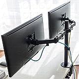 Dual doppio braccio doppio Monitor LCD LED supporto da tavolo supporto morsetto regolabile 2schermi VESA 15–68,6cm