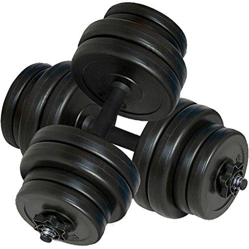 Festnight Set manubri con Pesi intercambiabili 30 kg,Maniglia Perfetta per Body Building, Pesistica Fitness, Allenamento, Palestra Casa