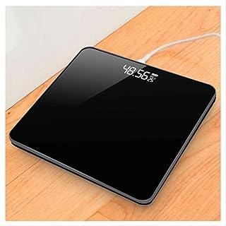 DGHJK Básculas electrónicas portátiles, báscula de baño Báscula Digital electrónica Inteligente precisa Báscula de Peso portátil Adecuada para Dormitorio, baño