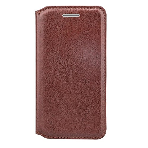 Vegan Leather Wallet Case for HTC One A9 - Retail Packaging - Brown