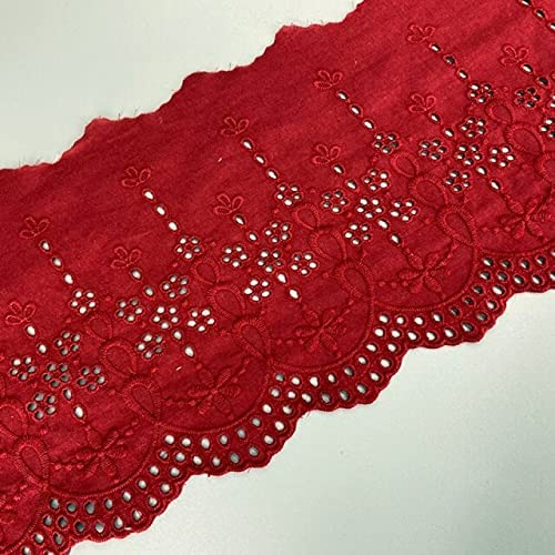 NHUNLACE 1 Yard Cotton Embroidery Lace Fabric French Ribbon Dealing full price Special price for a limited time reduction