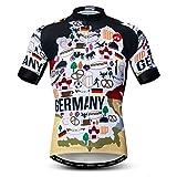 Weimostar Radfahren Jersey Herren Radfahren Kleidung Fahrrad Jersey Top Mountain Road MTB Jersey Shirt Kurzarm Atmungsaktive Team Sport Deutschland Multi Größe XXL