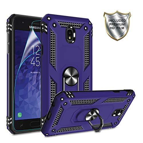 Galaxy J7 2018 Phone Case,Samsung J7 Aero/J7 Top/J7 Crown/J7 Aura/J7 Refine/J7 Star/J7 Eon Case,Gritup 360 Degree Rotating Metal Ring Holder Kickstand Phone Case for Galaxy J7 2018 Purple