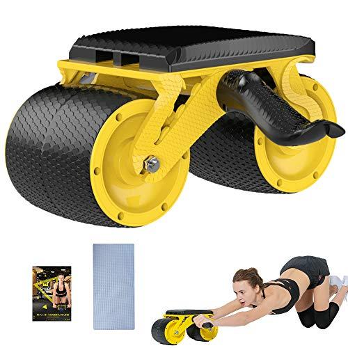 JEMPET Bauchroller Bauchtrainer mit doppeltem Rad rutschfeste Griffe für Fitness Workout Training zu Hause Heim-Fitnessstudio