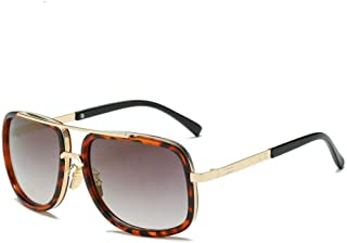 Big Frame Sunglasses Men Square Fashion Glasses for Women Retro Sun Glasses Vintage (Leopard)