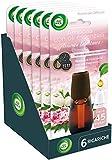 Airwick Diffusore Di Fragranza Con Oli Essenziali, Fragranza Peonia e Gelsomino, 1 Confezione da 6 Ricariche
