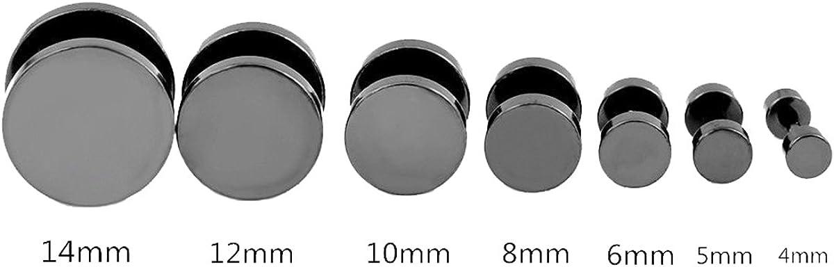 Generic 1pc Cool Punk Black Stainless Steel Ear Stud Men/Womens Piercing Earrings (5MM)