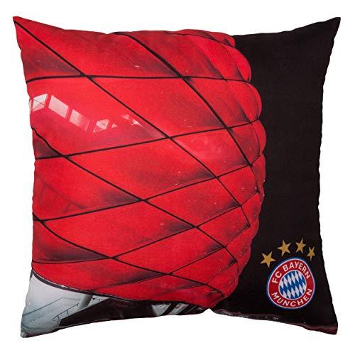 FC Bayern München Kuschelkissen/Kissen Allianz Arena FCB Plus gratis Aufkleber Forever München