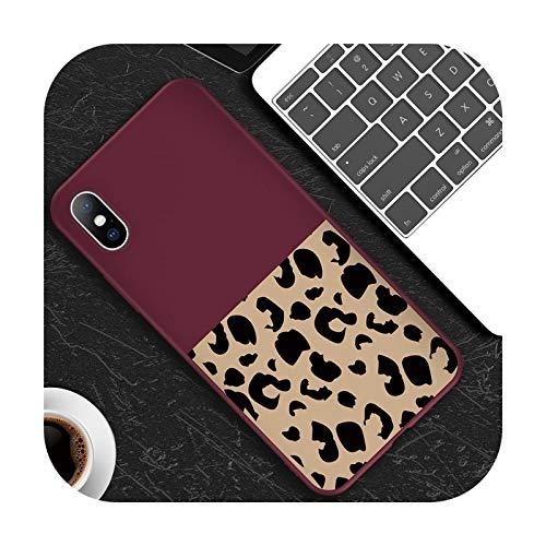 Phone cover Funda para iPhone 11 Pro 6 6S 7 8 Plus X Xr Xs Max 5 5S SE Suave TPU para iPhone X Phone Cases-T2 Rojo vino para iPhone 5 5S SE