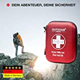 Notfall Erste Hilfe Set mit Inhalt aus Deutschland nach DIN 13167 + Notfallbeatmungshilfe + Burnshield-Gel für Brandwunden - 5