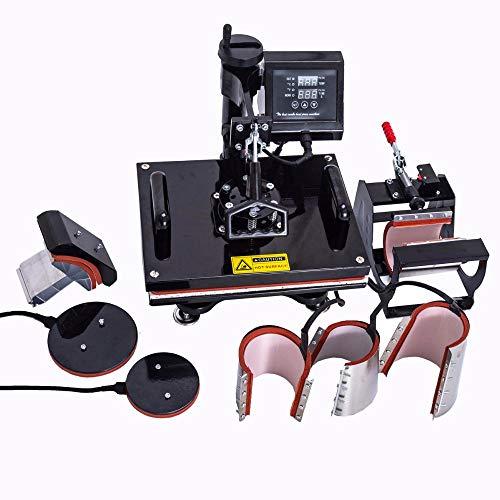 SISHUINIANHUA Design 8 in 1 Combo Heat Press Machine,Sublimation/Heat Press,Heat Transfer Machine for Mug/Cap/T Shirt/Phone Cases,EU