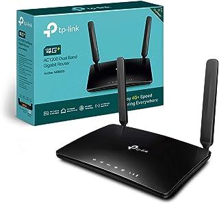 TP-Link Archer MR600 Router 4G+ Cat6 300Mbps, Wi-Fi AC1200 Dual Band, MicroSIM, Porta LAN/WAN Gigabit, Senza configurazione, Tecnologia TP-Link OneMesh
