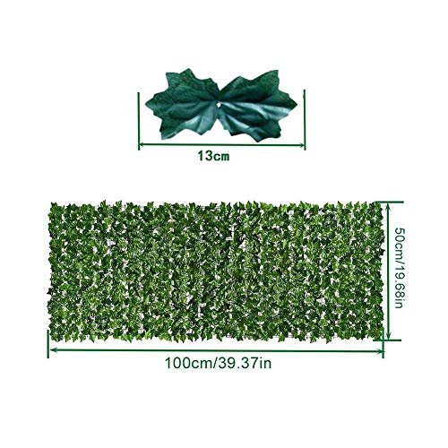 Best Artificial Conifer Screening Roll, Garden Artificial Ivy Leaf Hedge Fence Wall Balcony Privacy Screening Roll