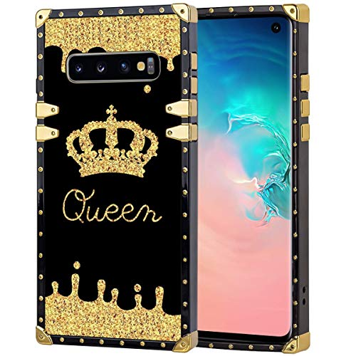 chenchen Cell Phone Case Fits for Galaxy S10 (6.1inch) Queen Golden Crown
