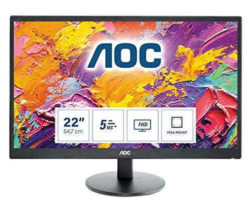 AOC e2270Swhn Dis Monitor da 21,5 , Nero