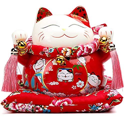 Lucky Cat Piggy Bank Cerámica Práctica Creativa Decoración for el hogar Adornos