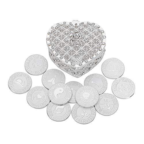 Spanish Silver Wedding Unity Coins Set Arras de Boda Wedding Arras...