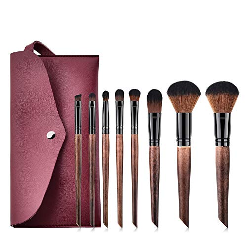 MEIYY Pinceau de maquillage 8Pcs Wooden Makeup Brushes Set Foundation Concealer Brushes Powder Contour Make Up With Bag Drop Shipping