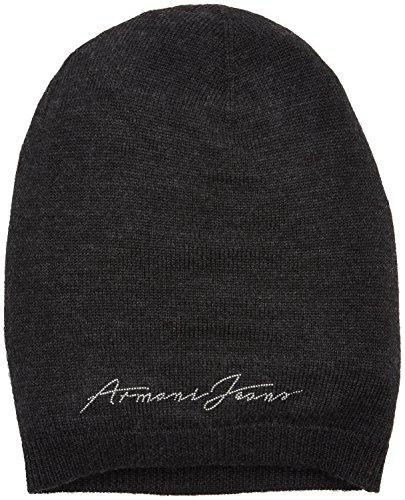 ARMANI JEANS Damen Classic Hat Strickmütze, Grau (Grigio Scuro 00249), One Size (Herstellergröße: II)