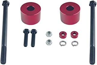 DEWHEL Red Billet Aluminum Differential Drop Spacers For 1995-2007 Toyota Tundra Tacoma Sequoia 4WD Lifted Trucks Front Diff Drop Kit