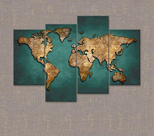 Marcus R Caveggf Lienzo Fotos Mapa Mundo marrón Moreno