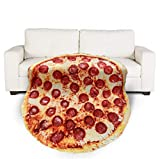 Flannel Blanket Pizza Blanket, Chocolate Donut Shape,Car Warm Blanket Funny and Cute Blanket (Pizza 70in)