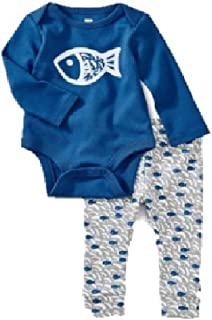 Tea Collection Bodysuit Baby Outfit, Bayou Blue Design