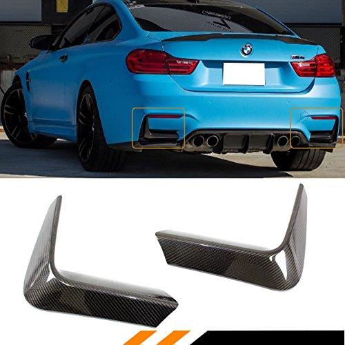 Fits for 2015-2019 BMW F80 M3 F82 F83 M4 Carbon Fiber Rear Bumper Lower Corner Vent Valance Lip Covers