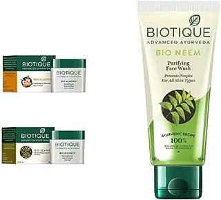 Biotique Bio Almond Soothing And Nourishing Eye Cream, 15g, Bio Seaweed Revitalizing Anti Fatigue Eye Gel, 15g and Bio Nee...