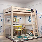 INMOZATA 3ft <span class='highlight'>High</span> Sleeper Cabin Bed Loft Bunk Bed Sturdy Solid Pine Kids Bed Wood Bed Frame with Ladder Single Bed (<span class='highlight'>High</span> Sleeper #2)