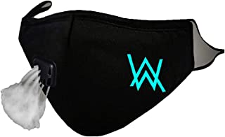 Glow in Dark Mouth Mask Alan Walker Faded Cotton Face Mask Anti PM2.5 Dust Filter