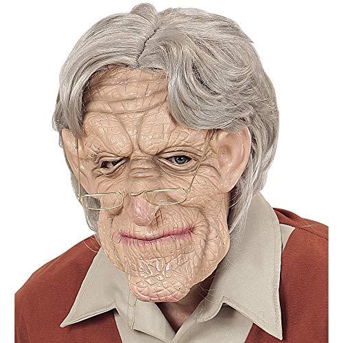 Widmann 02114 Masker met pruik, heren, grijs, eenheidsmaat