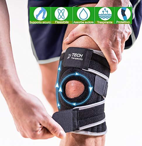 TECH THERAPEUTICS Rodillera Ortopedica Rodilleras Deportivas |Soporta, Estabiliza Y Refuerza Tus Rodillas |Protege Tus Músculos | Después De La Lesión O Operación Rodilleras Menisco y Ligamento