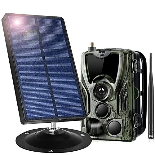 Portátiles Panel Solar 1800Mah 9V con Cámara De Caza Y Card SD 32GB 16 MP 1080P 0.3S Velocidad De Disparo Impermeable IP66 120 ° Gran Angular 2G Cámara Vida Silvestre