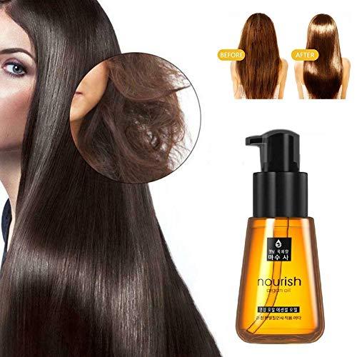 GTKY Super Curl Defining Booster, Maroc Huile Essentielle réparatrice pour Cheveux, Traitement Capillaire Fendu Liquide Essentiel pour améliorer Les Pointes fourchues, l'élégance, la rugosité (2 PCS)