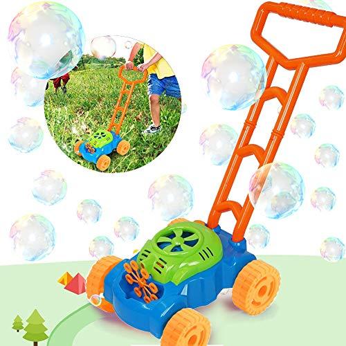 Sunshine smile Automatische Bubble Making Machine,Seifenblasenmaschine Rasenmäher,seifenblasen Spielzeug für Kinder,seifenblasen Outdoor Active