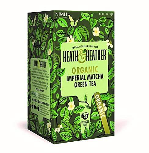 Organic Imperial Matcha Green Tea| 20 Tea Bags| Royal Mix of Chinese Sencha Green Tea, South India Green & Japanese Matcha| Allergen Free, Kosher & 100% USDA Organic Chai Blends