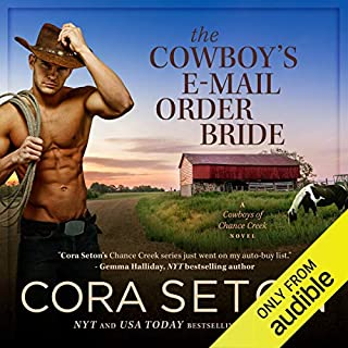 The Cowboy's E-Mail Order Bride audiobook cover art