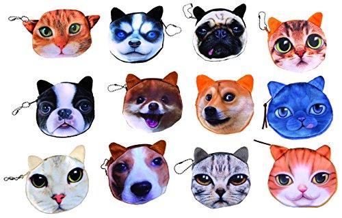 Bada Bing Lustige Geldbörse Geldbeutel Mini Portemonnaie Katze Hund Tier Gesicht Animal