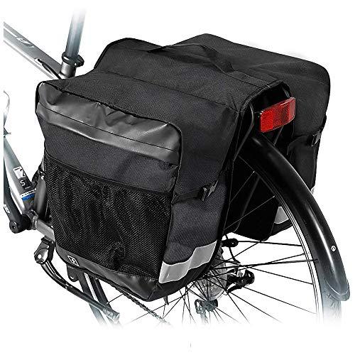 CXQWAN Double Sac, Siège arrière étanche Selle Accessoires vélo vélo Sacoche Trunk Femmes Hommes Sac Sacoches