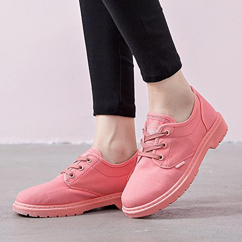 HOESCZS Damenschuhe Spring New Low Martin Stiefel Stiefel Freizeitschuhe Spitze Mode Schuhe Frauen Schuhe Zu Helfen  Factory Outlet Store