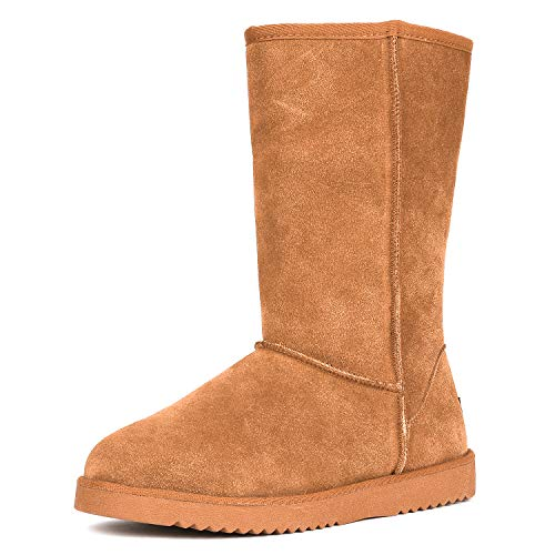 DREAM PAIRS Women's Shorty_high Chesnut Mid Calf Winter Snow Boots Size 7 M US