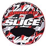 Airhead Mega Slice | 1-4 Rider Towable Tube for Boating, Red/Red Camo, 100 inch diameter (AHSSL-42)