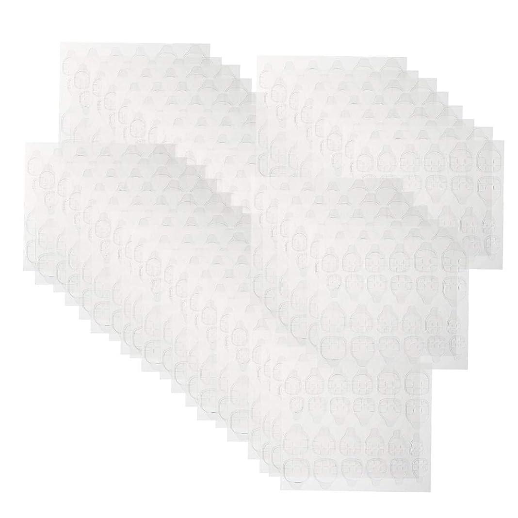 セラフ浸漬障害者T TOOYFUL ネイルタブ クリア ネイル接着剤タブ マニキュアスティック ネイルケア 約240ピースセット