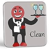 Wine Chuckle Dishwasher Magnet Handsome Henry Wine Man Dishwasher Indicator by Wine Chuckle