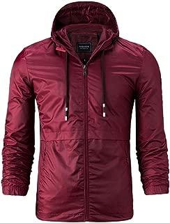 Leidenburg Men's Rain Jacket Waterproof Windbreaker Lightweight Raincoats with Hooded for Outdoor