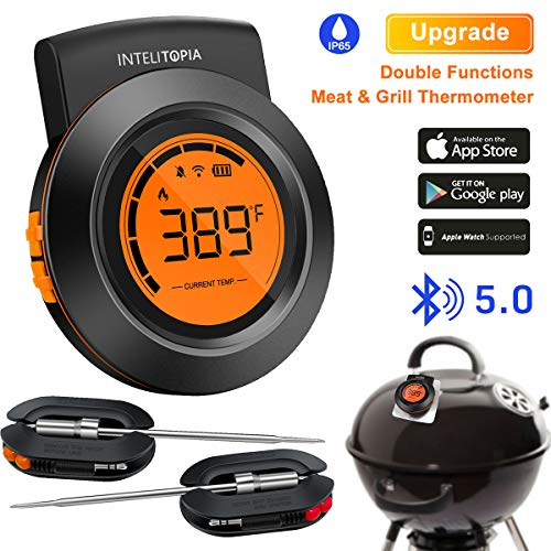 Bluetooth Meat Thermometer for Grilling, Wireless Charcoal Grill Thermometer Digital...